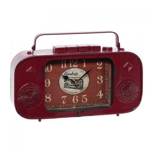 Inart Επιτραπέζιο Μεταλλικό Ρολόι