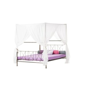 Ραμογλου Κρεβάτι διπλο μεταλλικό με ουρανό